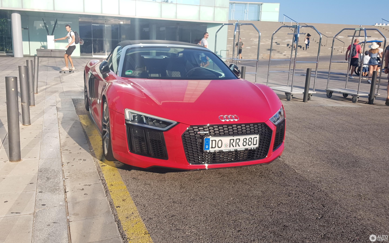 Audi R8 V10 Plus Spyder 2017 25 August 2019 Autogespot