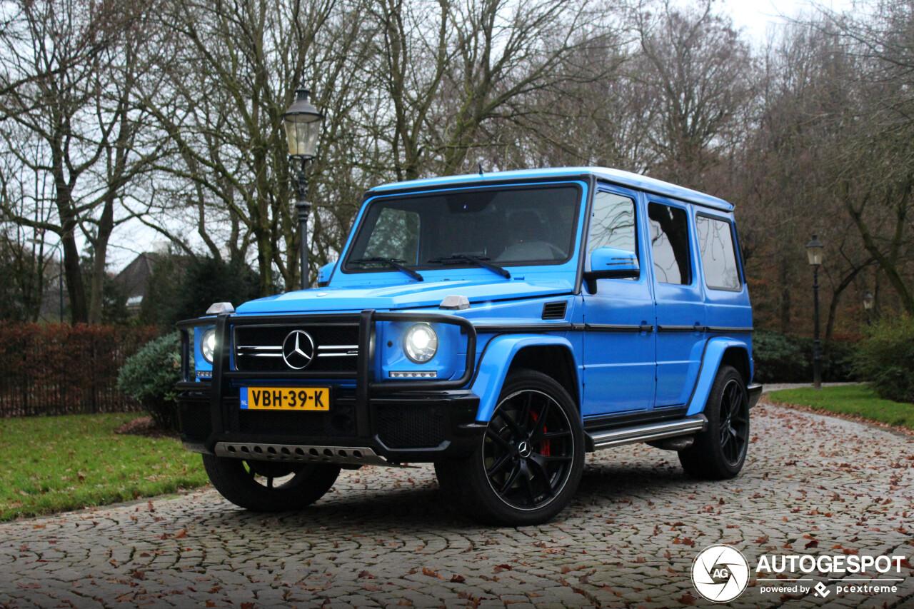 Blauwe Mercedes-AMG G 63 Edition 463 is eigenlijk grijs