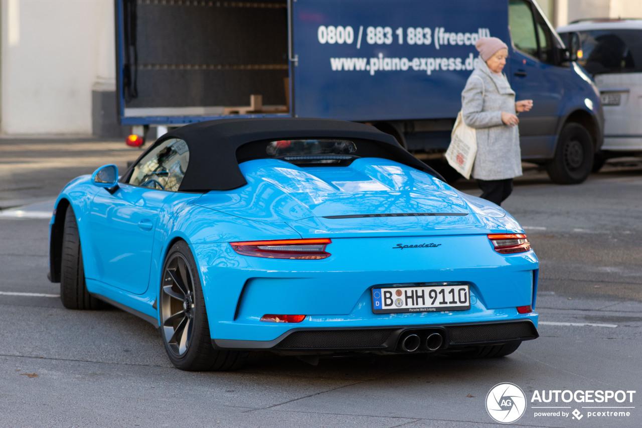 Porsche 991 Speedster doet het goed met een kleurtje