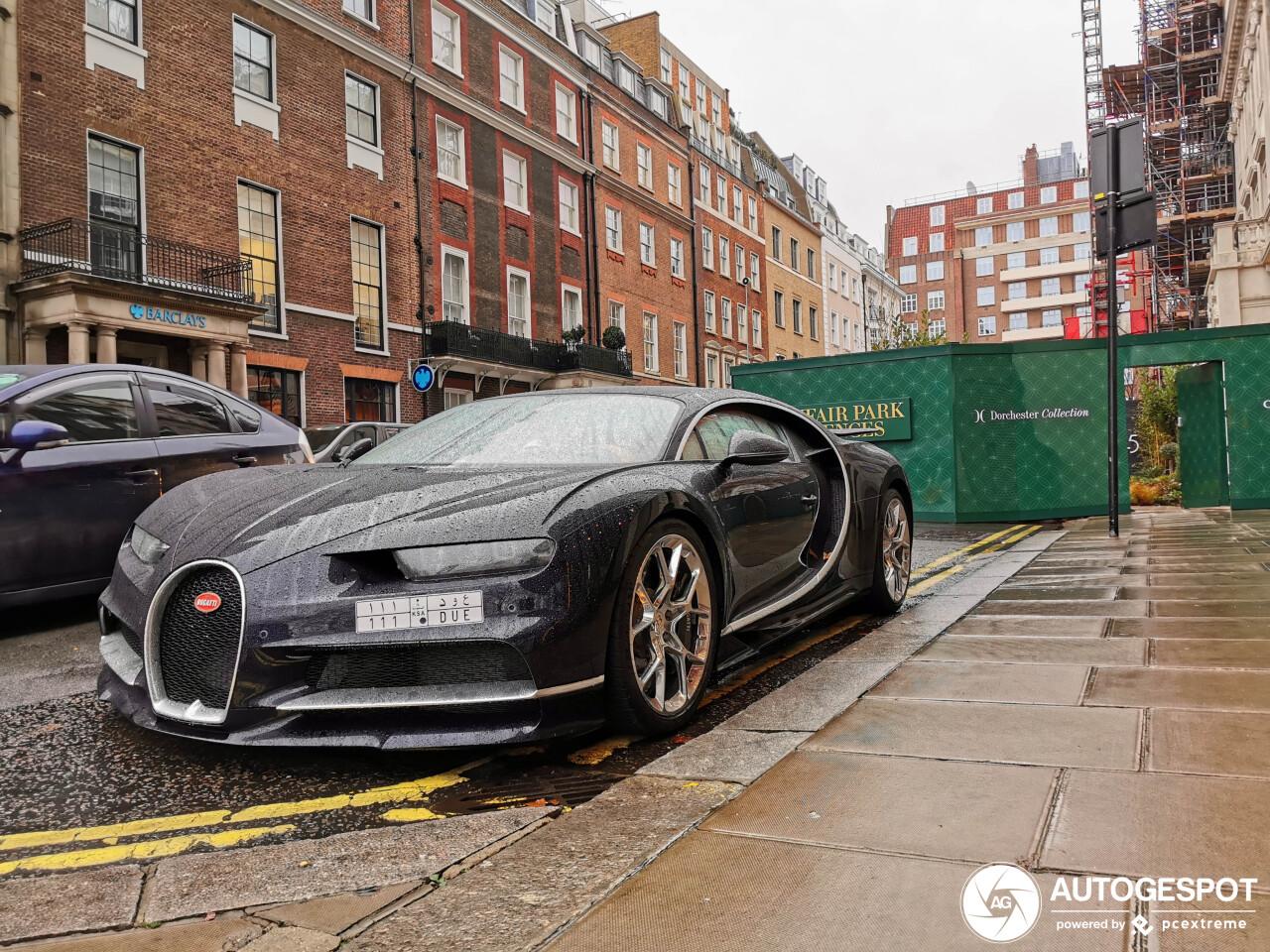 Bugatti Chiron nummer 37 gespot in Londen